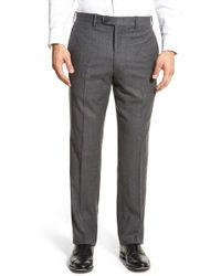 JB Britches - J.b. Britches Flat Front Solid Wool & Cashmere Trousers - Lyst