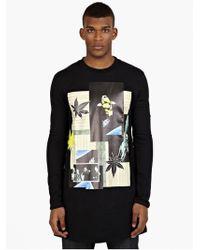 Raf Simons Men'S Long-Length Printed Cotton Sweatshirt - Lyst