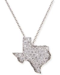 Roberto Coin 18K White Gold Diamond Texas Necklace - Lyst