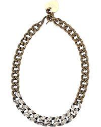 Lanvin Nave Large Brass Chain Choker - Lyst