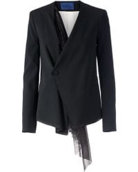 Sharon Wauchob - Wrap Hanging Lace Detail Blazer - Lyst
