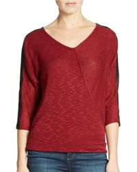 DKNY Pieced And Sewn Sweater - Lyst