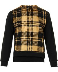 Alexander McQueen Metallic Tartan-print Sweatshirt - Lyst