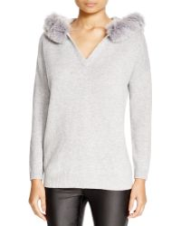Magaschoni - Fox Fur-trimmed Hood Cashmere Sweater - Lyst