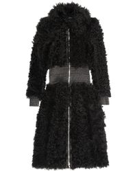 Alexander McQueen Leathertrimmed Shearling Coat - Lyst