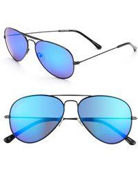 Converse 58Mm Aviator Sunglasses - Lyst