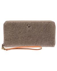 Will Leather Goods - 'imogen' Washed Italian Lambskin Leather Checkbook Clutch - Lyst