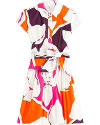 Diane von Furstenberg Scarlet Cotton Shirt Dress - Lyst