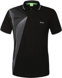 BOSS Green - 'pleecell' | Slim Fit, Stretch Cotton Blend Polo Shirt - Lyst