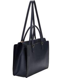 Valextra Madison Working Bag - Blue
