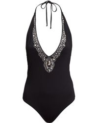 H&M Beaded Swimsuit - Lyst