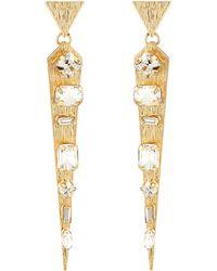 R.j. Graziano Mixed Crystal Spike Earrings - Lyst