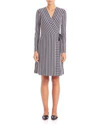 Tory Burch | Jacquard Wrap Dress | Lyst