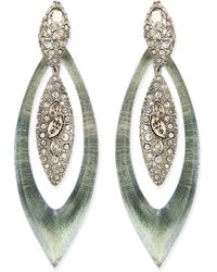 Alexis Bittar Encrusted Concave Centerpiece Earrings - Lyst