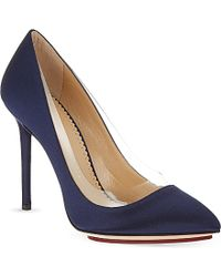 Charlotte Olympia Satin Court Shoes - For Women - Lyst