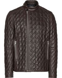 Reiss Olsen Quilted Leather Jacket - Lyst