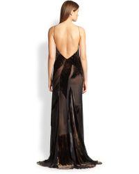 Donna Karan Artisan Devore Skyscraper Gown - Black