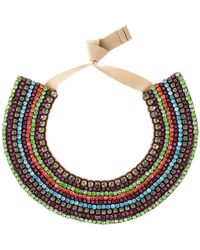 Valentino Crystal Necklace - Lyst
