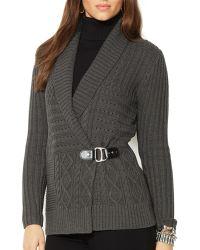 Ralph Lauren Lauren Shawl Collar Sweater - Lyst