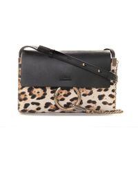 Chloé | Faye Small Leopard-Print Bag | Lyst