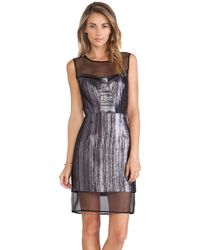Milly Nikki Panel Dress - Lyst