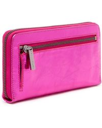 Trina Turk Flamingo Zip Around Wallet - Purple