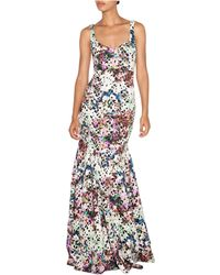 Nicole Miller Lace Empire Gown - Lyst