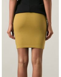 Jean Paul Gaultier High Waist Bodycon Skirt - Lyst