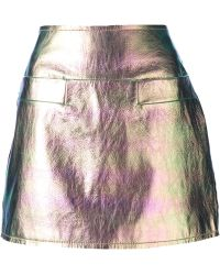 Marc By Marc Jacobs Metallic Mini Skirt - Lyst