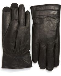 CALVIN KLEIN 205W39NYC - Leather Gloves With Touchtips - Lyst
