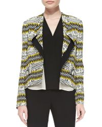 Etro Tribal Striped High Low Crepe Jacket - Lyst