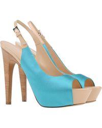 Giuseppe Zanotti Blue Sandals - Lyst
