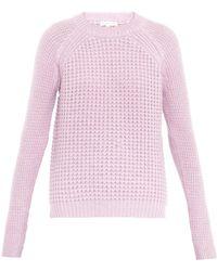 Rebecca Taylor Multi-Knit Wool-Blend Sweater - Lyst