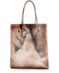 Maison Martin Margiela Leather Tote Gold - Lyst