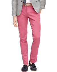 Brooks Brothers Slim Fit Chinos - Lyst