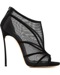 Casadei Mesh Panels Strappy Sandals - Lyst