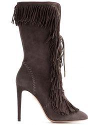 Aquazzura Carly Suede Boots - Lyst