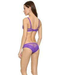 L'Agent by Agent Provocateur Vanesa Non Padded Demi Bra - Violet - Purple