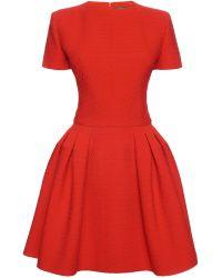 Alexander McQueen Pleated Peplum Mini Dress - Lyst