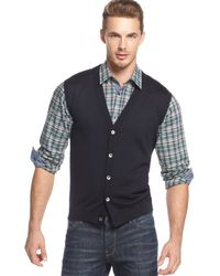 Hugo Boss Boss Medrick-d Slim-fit Sweater Vest Cardigan - Lyst