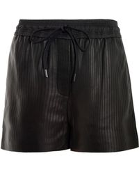 Alexander Wang Matrix Leather Boxer Shorts - Lyst