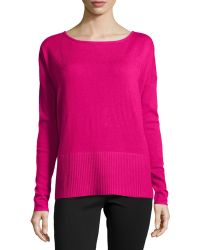 Diane Von Furstenberg Long-sleeve Knit Sweater - Lyst