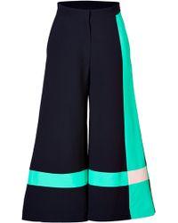 Roksanda Ilincic Cotton Blend Colorblocked Wide Leg Pants - Lyst