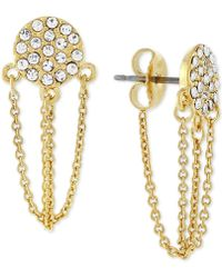 Vince Camuto - Pave Chain Stud Earrings - Lyst