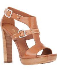 Prada T-Strap Platform Sandals - Lyst