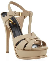 Saint Laurent Tribute Sandal 105 - Lyst