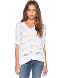 Autumn Cashmere Relaxed V Neck Sweater - Lyst