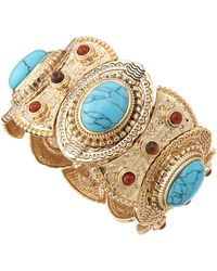 R.j. Graziano - Five Piece Beaded Bangle Set - Lyst