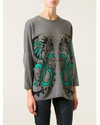 Roberto Cavalli Panther Sweater - Lyst