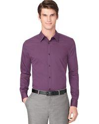 Calvin Klein Regular Fit Poplin Mini Stripe Sport Shirt - Lyst